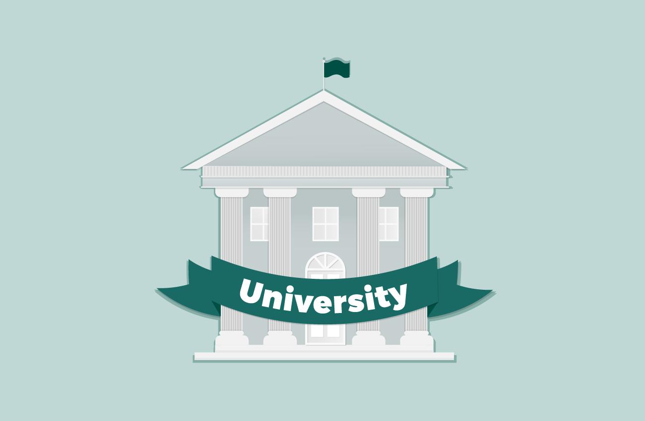 Minimalist university building